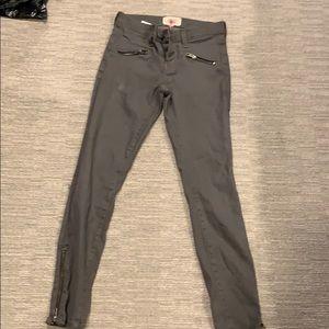 Current Elliot grey zip detail jeans